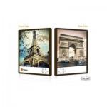 Pintoo-U1005 Puzzle Push Double Face en Plastique - La Tour Eiffel et l'Arc de Triomphe