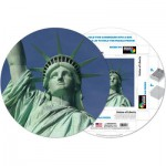 Pigment-and-Hue-RSOL-41217 Puzzle Rond déjà assemblé - La Statue de la Liberté