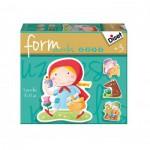 Diset-69943 4 Puzzles Baby Form : Escargot, Tortue, Eléphant et Tigre