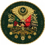 Art-Puzzle-4138 Puzzle Horloge avec Paillettes dorées - Emblème Ottoman (Pile non fournie)