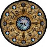 Art-Puzzle-4148 Puzzle Horloge - Golden (Pile non fournie)