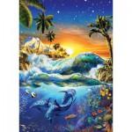 Puzzle  Art-Puzzle-4428 Lever du Jour sur Hawaii
