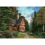 Puzzle  Art-Puzzle-4621 Woodland Cottage