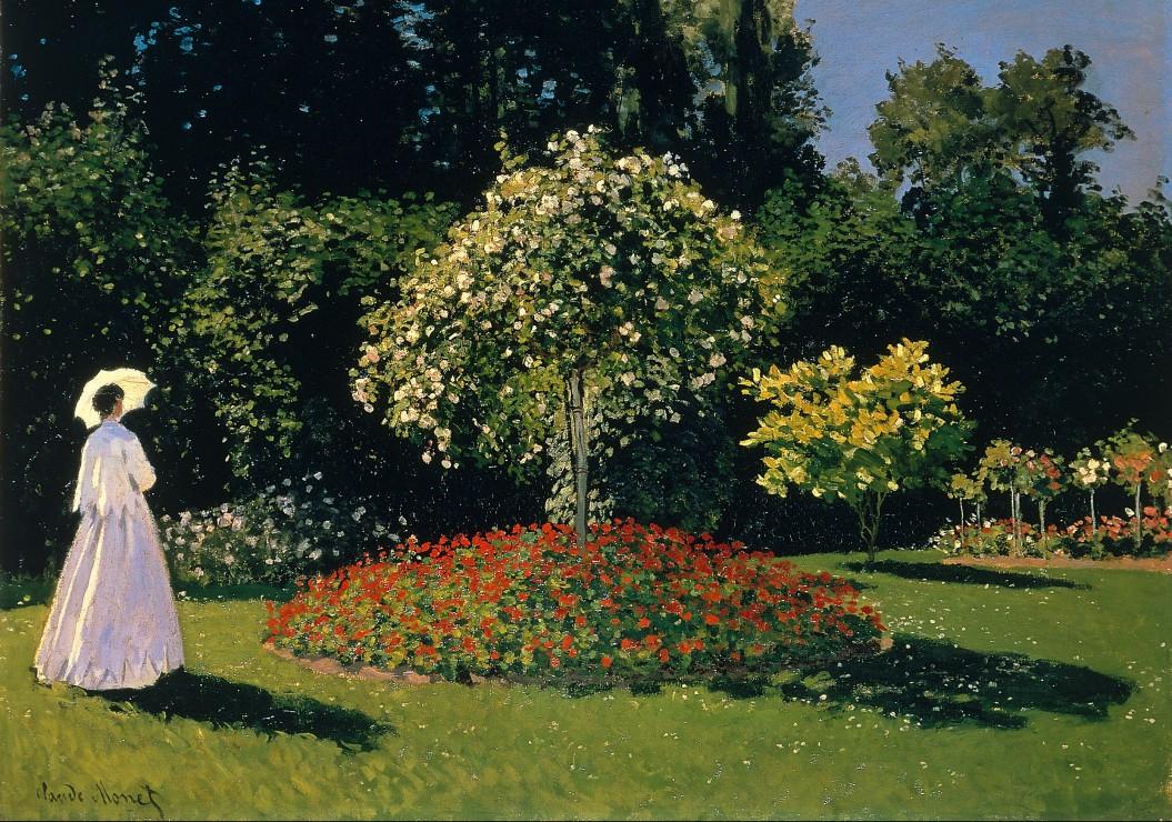 Claude monet dame en blanc au jardin 1867 1000 teile for Au jardin des malentendus