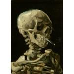 Puzzle  Grafika-00065 Vincent Van Gogh : Crâne de squelette fumant une cigarette, 1885