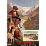 Puzzle  Grafika-00609 Affiche pour Les Chemins de Fer P.L.M : Les Pyrénées - Le Cirque de Gavarnie , XIXè Siècle