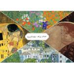 Puzzle  Grafika-00806 Gustav Klimt - Collage