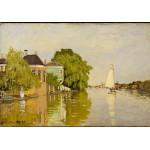 Puzzle  Grafika-01118 Claude Monet: Maisons sur le Achterzaan, 1871