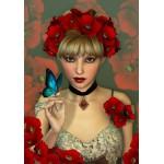 La Femme et le Papillon 1000 pièces - Grafika