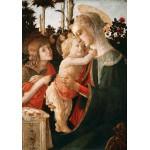 Puzzle  Grafika-01288 Sandro Botticelli: La Vierge à l'Enfant, le Jeune Saint Jean-Baptiste, 1470-1475