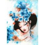 Puzzle  Grafika-01322 Misstigri : Blue Flowers