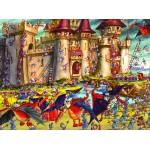 Puzzle  Grafika-01440 François Ruyer : Siège du Château Fort