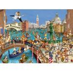 Puzzle  Grafika-01442 François Ruyer : Les Lapins à Venise
