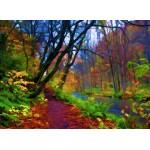 Puzzle  Grafika-01665 Forêt d'Automne Stylisée