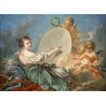 Puzzle  Grafika-01795 François Boucher : Allégorie de la peinture, 1765