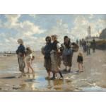 Puzzle  Grafika-02057 John Singer Sargent : En Route Pour la Pêche, 1878
