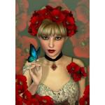 Puzzle  Grafika-T-00093 La Femme et le Papillon