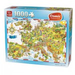 Puzzle  King-Puzzle-05077 Comic Collection - Crazy Europe