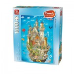 Puzzle  King-Puzzle-05184 Comic Collection - Château de Neuschwanstein