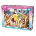 Puzzle  King-Puzzle-05242-B Blanche Neige et les 7 Nains