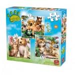 King-Puzzle-05323 3 Puzzles - Animal World