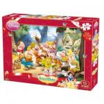 Puzzle  King-Puzzle-K04754-A Blanche Neige et Les 7 Nains