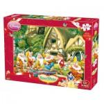 Puzzle  King-Puzzle-K04754-B Blanche Neige et Les 7 Nains