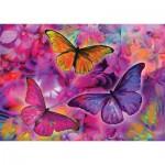 Puzzle  KS-Games-11262 Papillons et Orchidées Arc-en-ciel