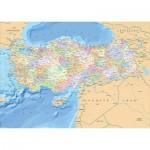 Puzzle  KS-Games-11331 Carte de la Turquie