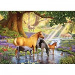 Puzzle  KS-Games-11388 Steve Crisp: Horses by the Stream