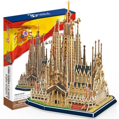 Puzzle 3d sagrada fam lia 194 teile cubic fun puzzle for Piece 3d en ligne