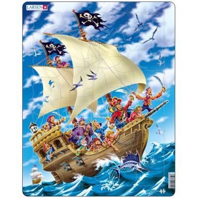 Puzzle Pirate De 30 Pièces Bâteau Cadre Larsen l3KTFu1Jc5
