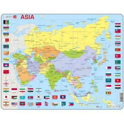 Carte De Toute Lasie.Puzzle Cadre Carte De L Asie En Anglais 70 Pieces Larsen