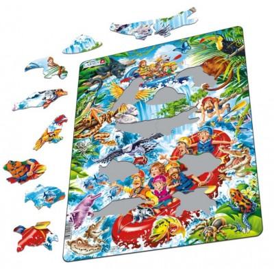 Puzzle cadre rafting en amazonie 35 teile larsen - Acheter cadre en ligne ...