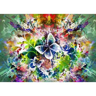 Grafika Et De Fleurs Printemps Papillons Pièces 1000 xorBWdCe