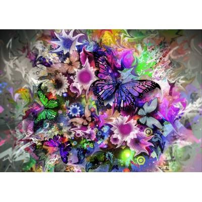 Fleurs et papillons 2000 teile grafika puzzle acheter for Acheter fleurs en ligne