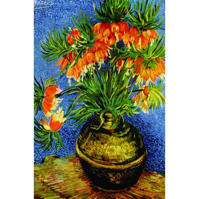 van gogh fritillaires dans un vase en cuivre 1000 teile gold puzzle puzzle acheter en ligne. Black Bedroom Furniture Sets. Home Design Ideas