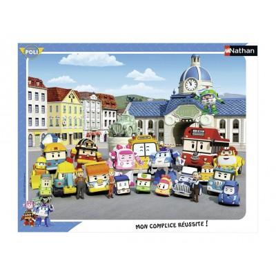 Puzzle cadre robocar poli 35 teile nathan puzzle - Acheter cadre en ligne ...