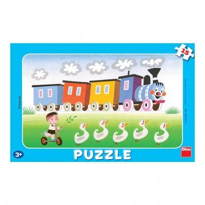 Puzzle cadre train 15 teile dino puzzle acheter en ligne - Acheter cadre en ligne ...