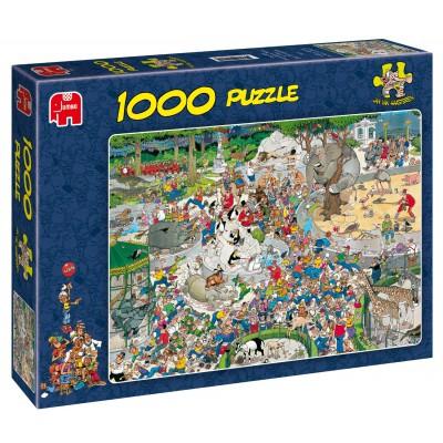jan van haasteren au zoo 1000 pi ces puzzle jumbo puzzle acheter en ligne. Black Bedroom Furniture Sets. Home Design Ideas