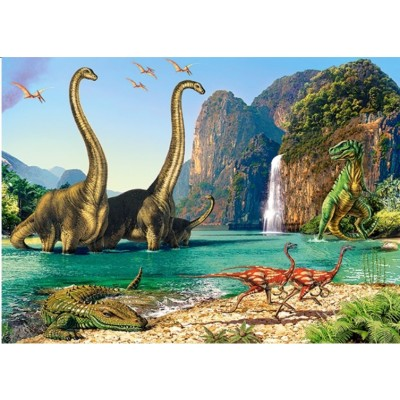 dinosaures 60 teile castorland puzzle acheter en ligne. Black Bedroom Furniture Sets. Home Design Ideas