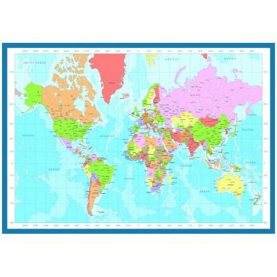 Carte du monde   SmartPoster 1000 pièces Puzzle   Eurographics