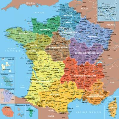 carte-de-france-avec-departements - Photos