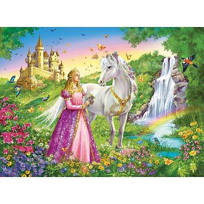 Princesse avec son cheval puzzle 200 extra grandes pi ces ravensburger puzzle acheter en ligne - Princesse cheval ...