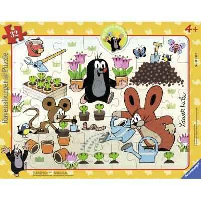puzzle cadre la petite taupe 32 teile ravensburger puzzle acheter en ligne. Black Bedroom Furniture Sets. Home Design Ideas