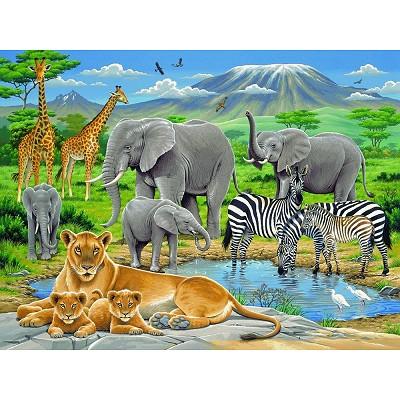 animaux d 39 afrique puzzle 200 grandes pi ces ravensburger puzzle acheter en ligne. Black Bedroom Furniture Sets. Home Design Ideas