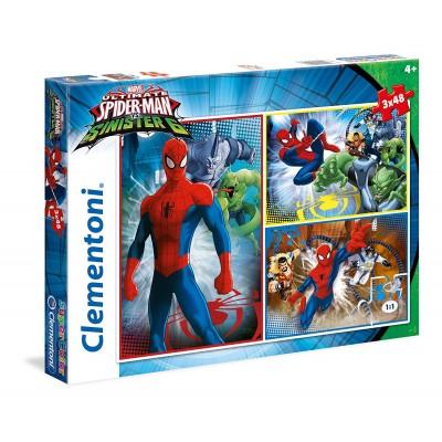 3 puzzles spider man 48 teile clementoni puzzle acheter en ligne. Black Bedroom Furniture Sets. Home Design Ideas