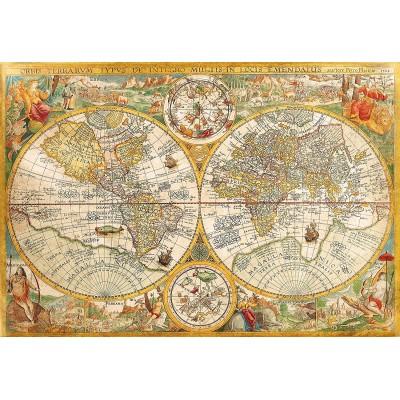 vieille carte du monde 2000 teile clementoni puzzle acheter en ligne. Black Bedroom Furniture Sets. Home Design Ideas