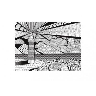 3d colour therapy puzzle phare 500 teile clementoni for Piece 3d en ligne
