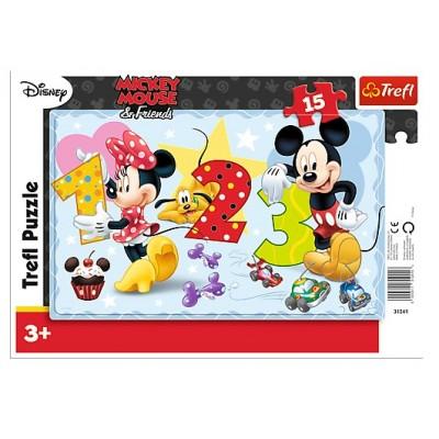 Puzzle cadre mickey 15 teile trefl puzzle acheter en ligne - Acheter cadre en ligne ...